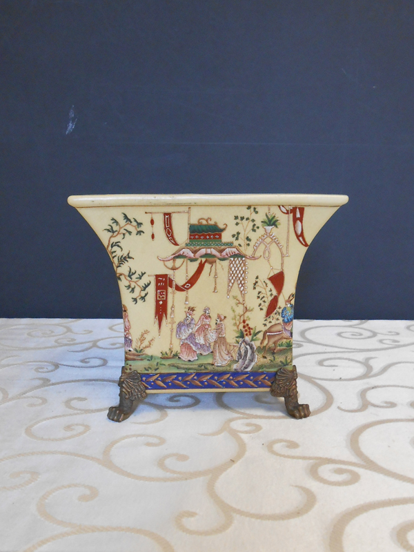 Square footed Asian Ceramic