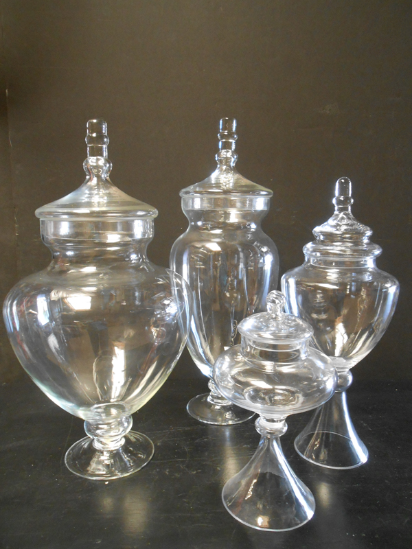 Apothecary jars with lids