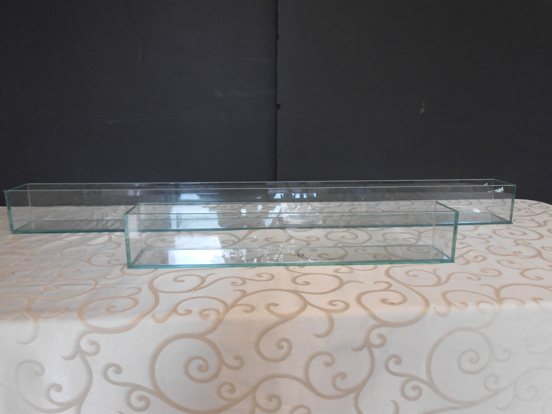 Glass trough