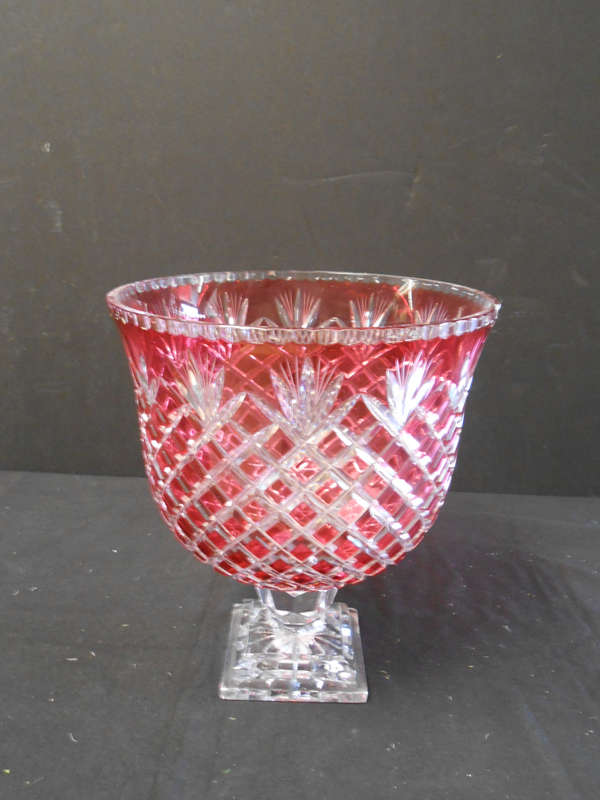 Ruby Crystal Vase
