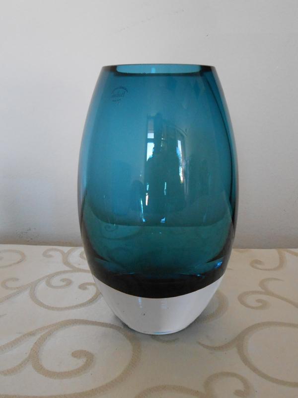 crystal blue vase