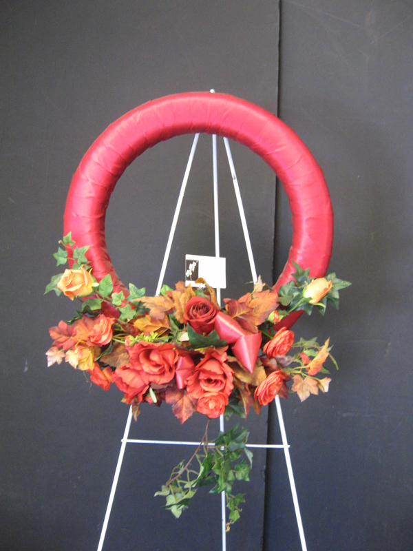 Red and orange wreath