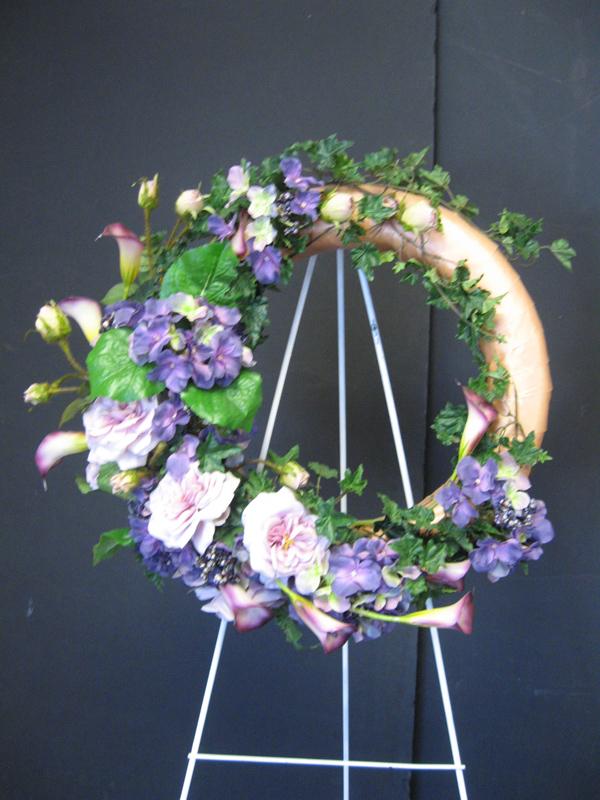 Lavender garden wreath