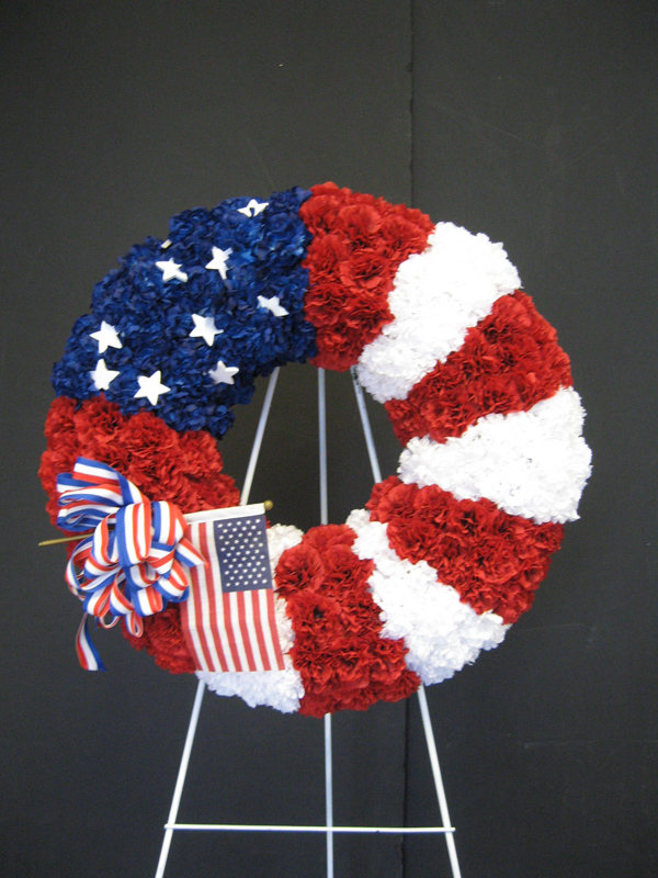 Americana easel wreath