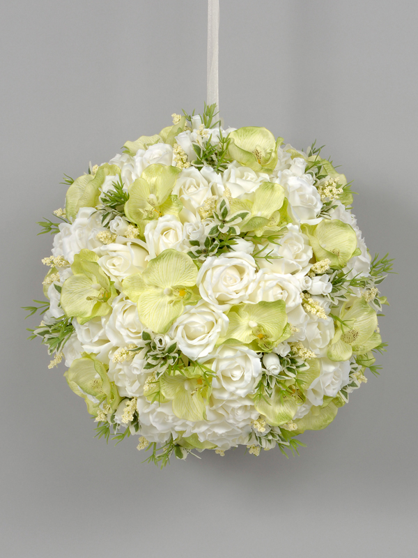 Rose and orchid flower ball