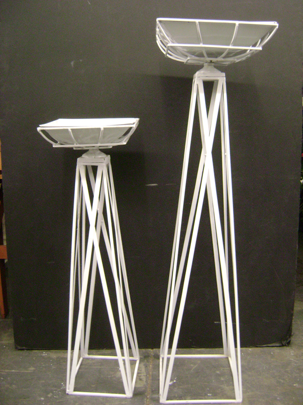 White metal pedestal