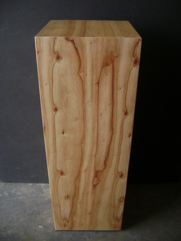 Pine wood pedestal