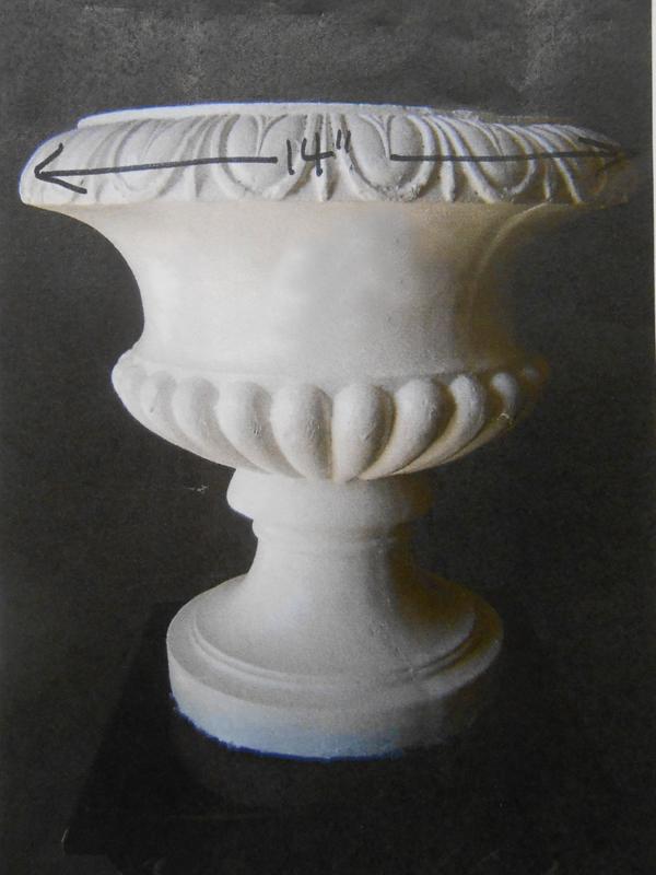 Plaster Atlantis urn
