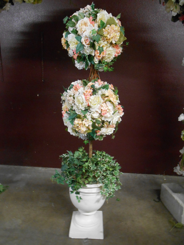 Pastel double ball topiary
