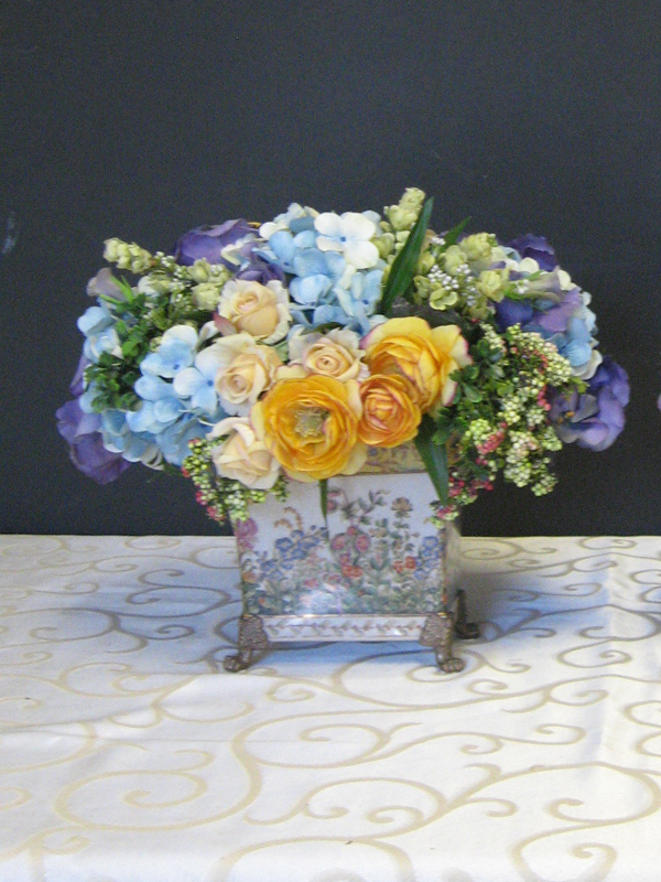 Blues and yellows floral