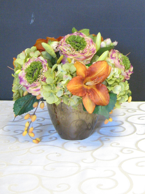 Green and Orange Arrangement
