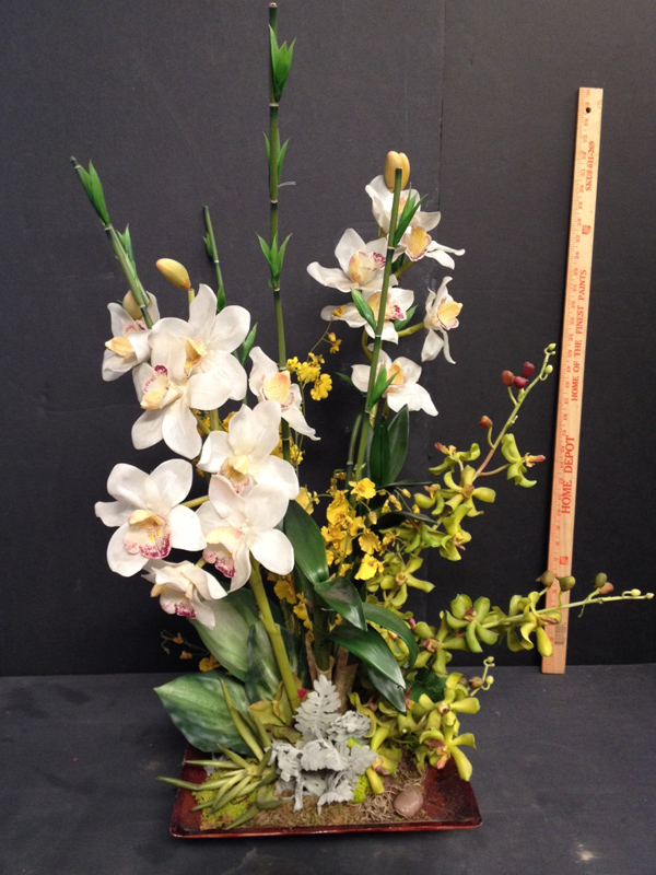 Pastel cymbidium floral