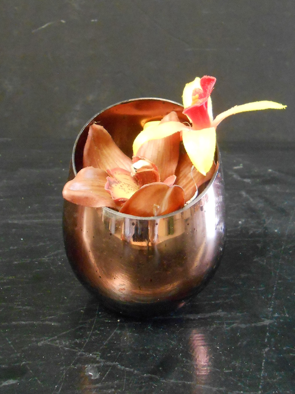 cymbidium in copper floral