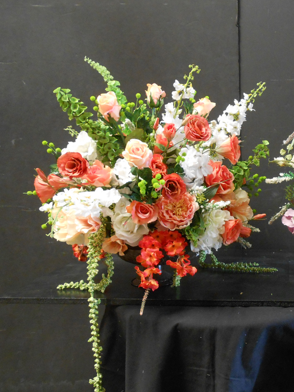 Orange and white floral