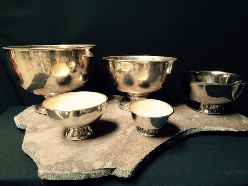 Silver revere bowls