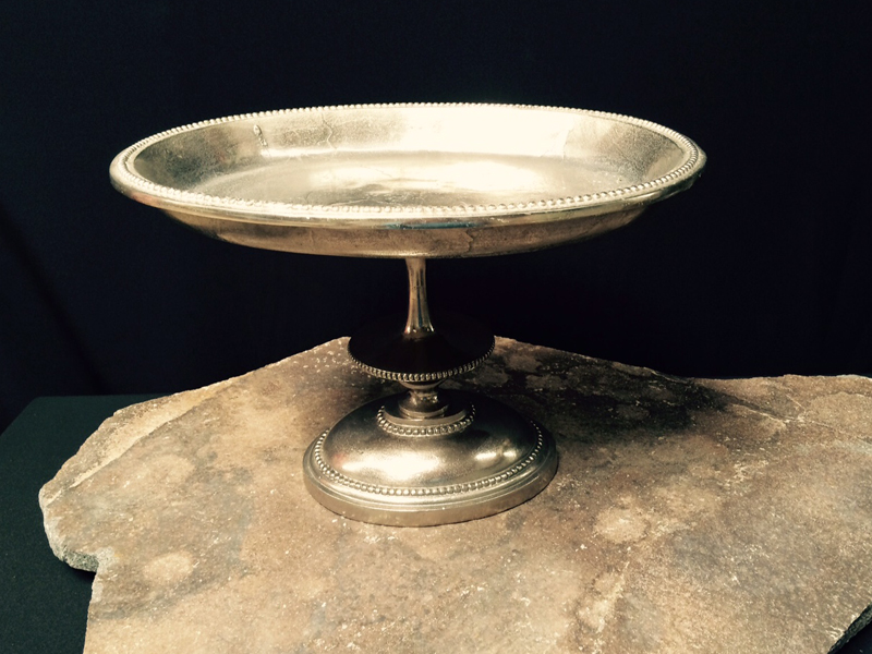 Silver footed pedestal