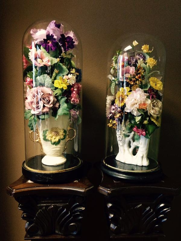 Vintage floral domes