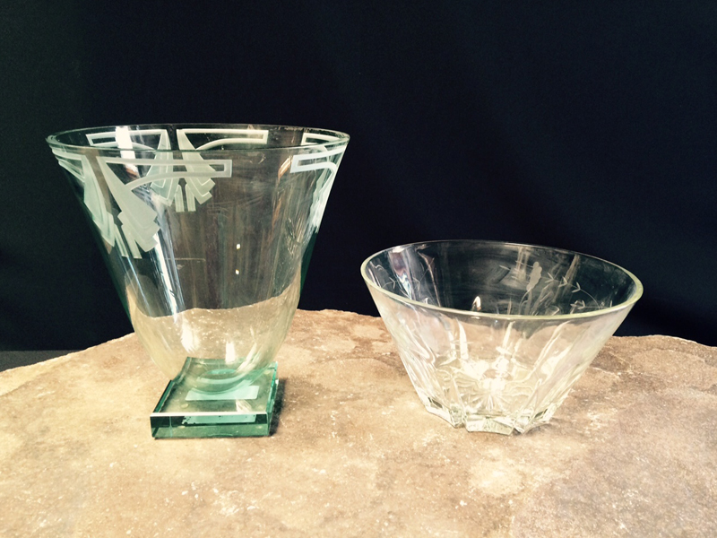 Etched Crystal Vases