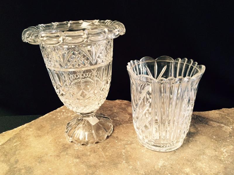 Elegant Cut Crystal Vases