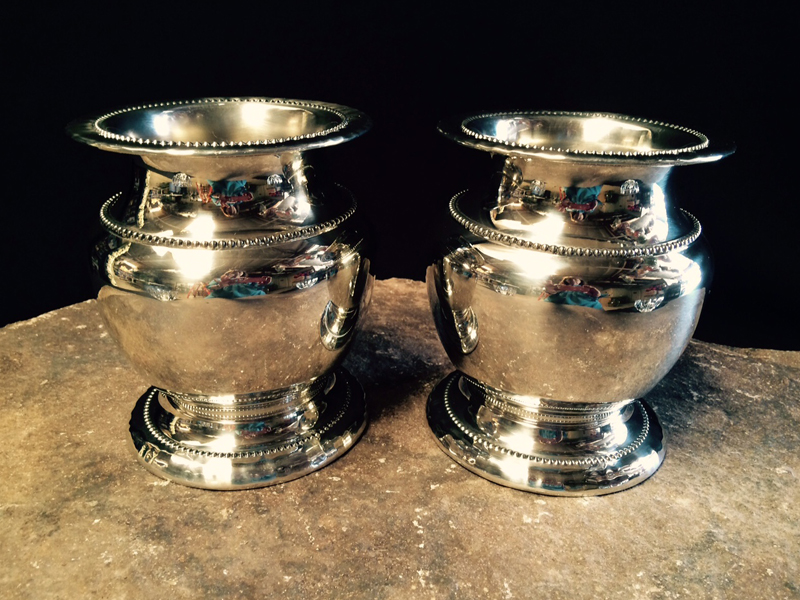Silver Banded Urns