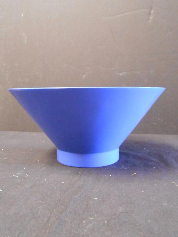 Blue fiberglass bowl
