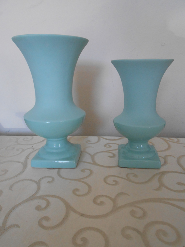 Tiffany blue ceramic vase