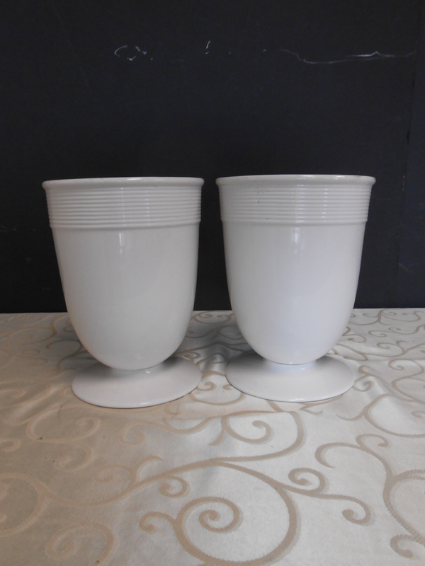 White ceramic Barbara Berry vase