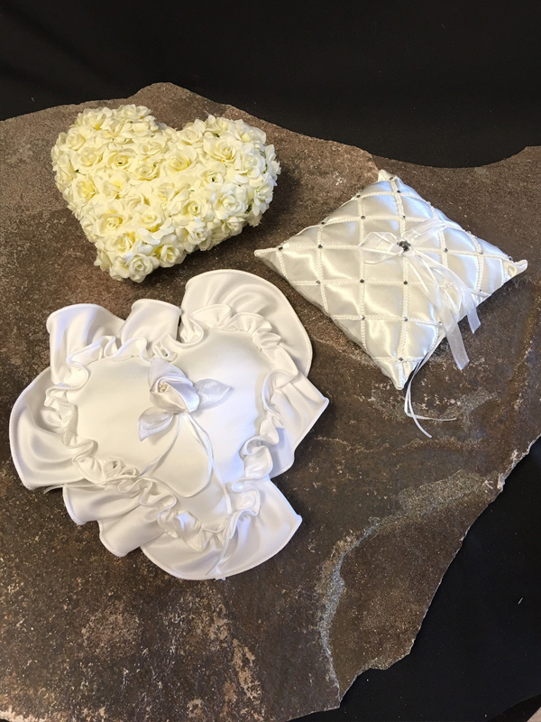 Assorted ring bearer pillows