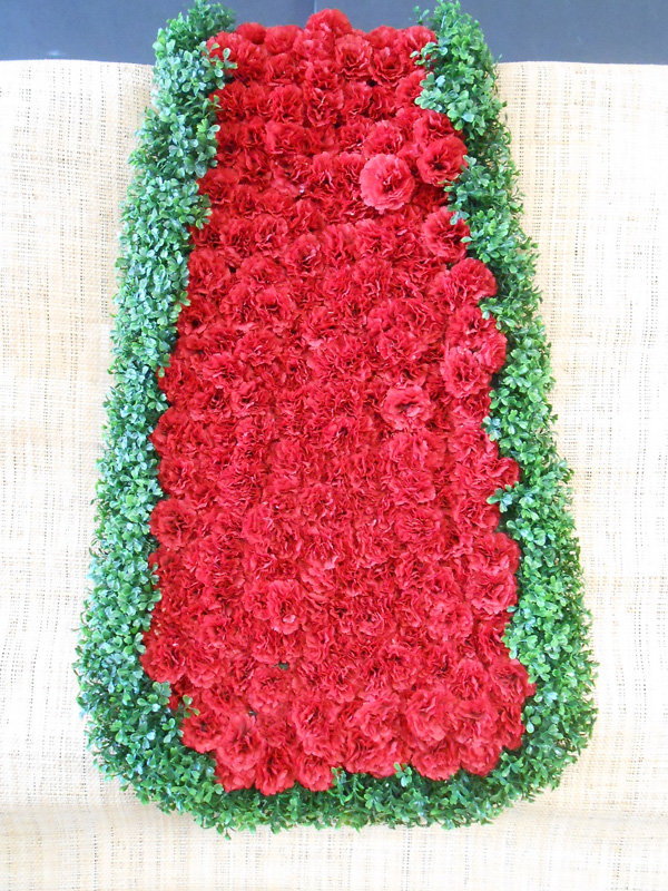 Horse blanket red carnations