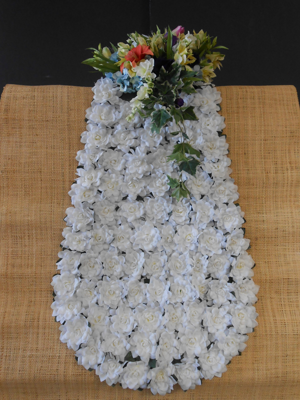 Horse blanket gardenias and cluster