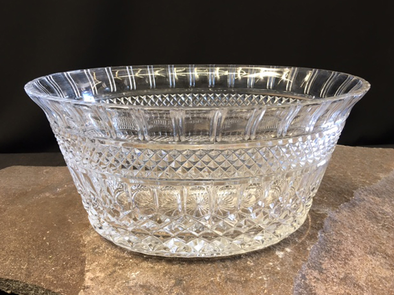 Large Oval Crystal Bowl