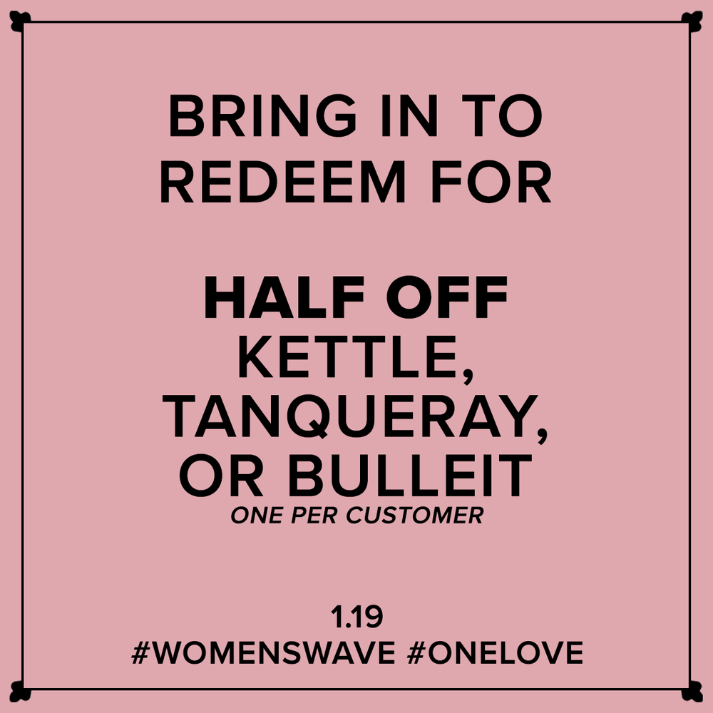 Bring in to Redeem for $5 Kettle, Tanqueray or Bulleit.1.19 - Cards being given out at Marvin this week!