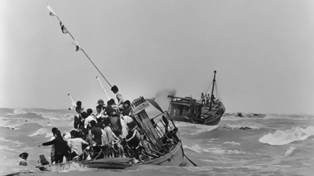 Vượt biển tìm tự do của người Việt Nam sau 30-4-1975. Nguồn internet.