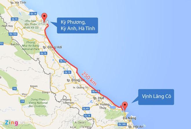 Ảnh hưởng của Formosa trên 4 tỉnh dọc theo bờbiển Việt Nam (nguồn internet)