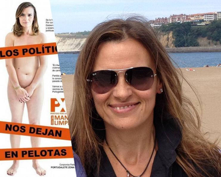 Nữ ứng cử viên Yolanda Couceiro Morin,đảng viên đảng cực hữu Partido por la Libertad –manos limpias , (Đảng Tự Do -Tay sạch),Y pha Nho. Nguồn internet.