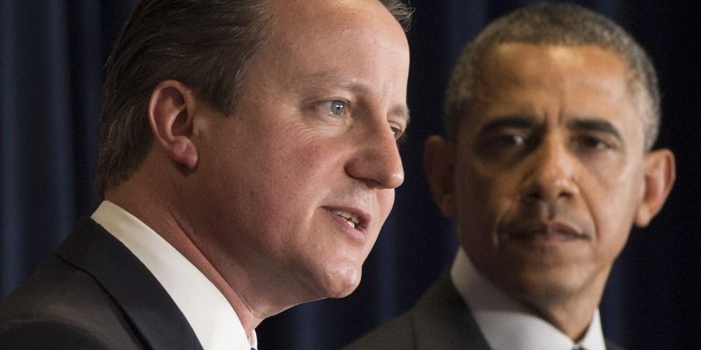Thủ tướng Anh David Cameron sang Washington DC gặp tổng thống Obama. Nguồn internet.