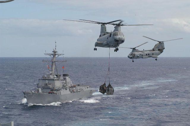 Khu trục hạm Lassen của Hoa kỳ đi tuần trong khu vực Biển Đông, nguồn internet