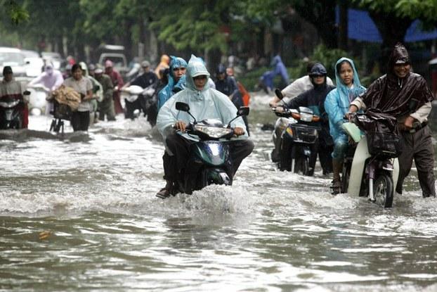 Ngập lụt tại Saigon mỗi khi trời mưa, nguồn internet