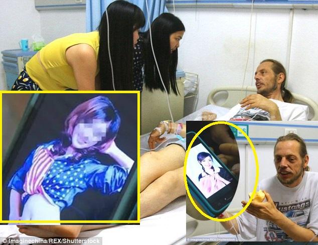 Alexander Pieter Cirk phải vào nhà thương vì kiệt sức sau 10 ngày chờ côZhang ở phi trường. Nguồn internet.