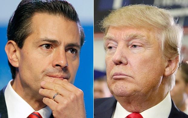 Tổng thống Mexico Enrique Pena Nieto đã tiếp Donald Trump, ứng cử viên đại diện đảng Cộng hoà tranh cử tổng thống Mỹngày 31 tháng 8/2016. Nguồn AP.
