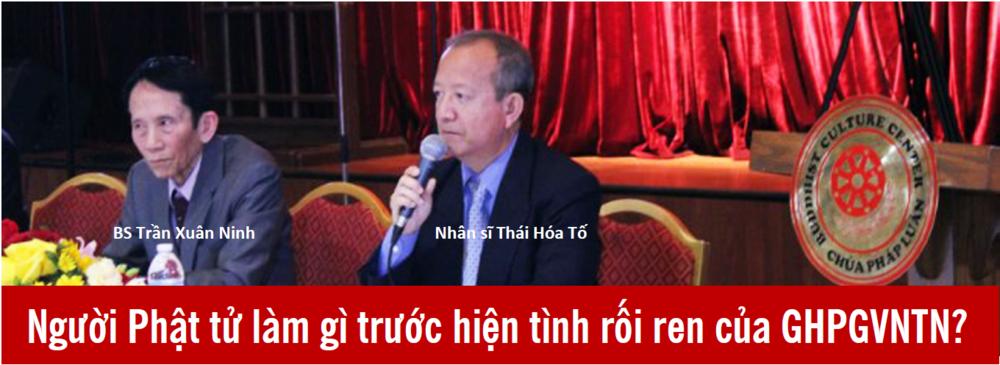 Bác Sĩ Trần Xuân Ninh và Nhân sĩ Thái hóa Tố. Nguồn: Tập San Đồng Hành,GHPGVNTN.