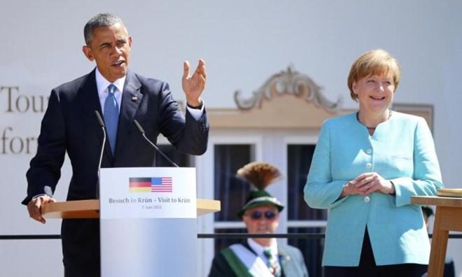 Tổng thống Obama và thủ tướng Đức Angela Merkel. Nguồn Internet.