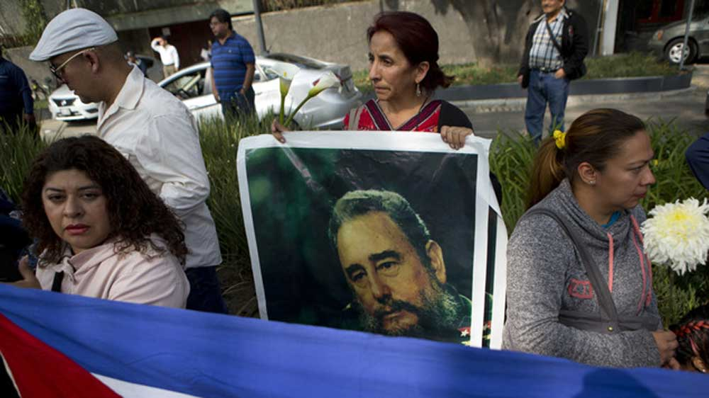 Người dân Cuba tưởng nhớ lãnh đạo độc tài Fidel Castrol. Nguồn internet.