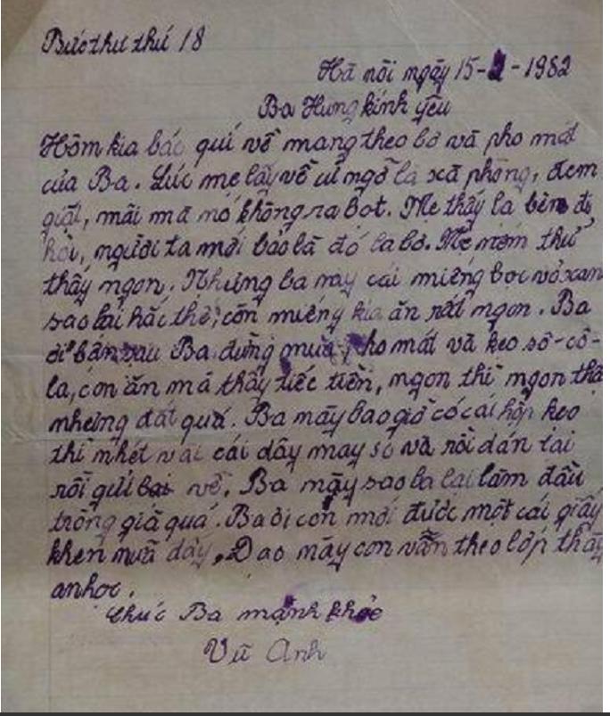 Bức thư của con trai gửi ba kể chuyện dùng bơ và pho mát giặt quần áo vì cứ ngỡ là xà phòng.