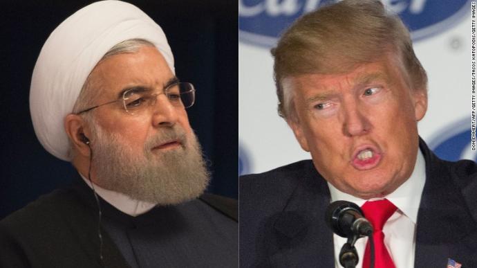 President Trump của Hoa Kỳ vàPresident Hassan Rouhani của Iran. Nguồn internet.