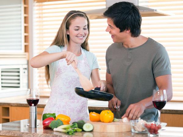 Gởi ý cho vợ qua nấu ăn. Nguồn internet.