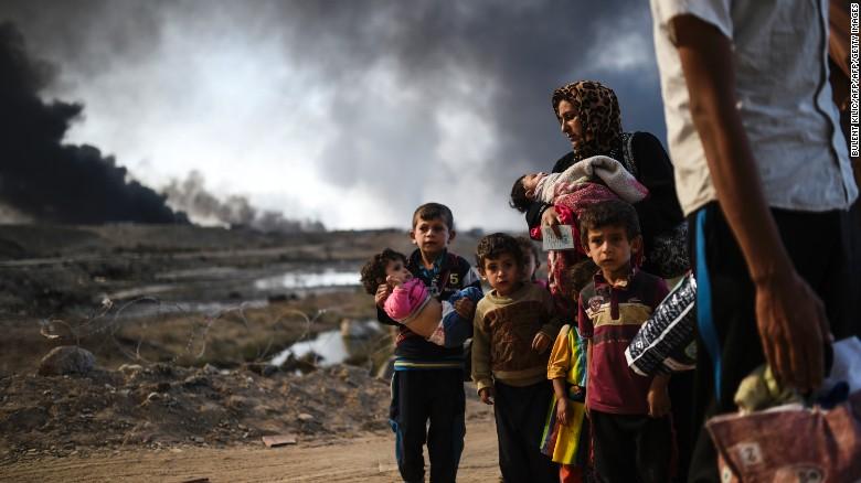 Trẻ em trong cuộc chiến tranh tại Mosul, Iraq. Nguồn internet.