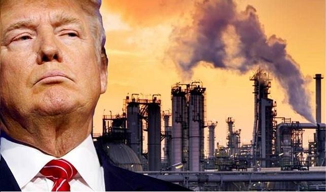 Tổng thống Trump tuyên bố rút khỏi hiệp ước khí hậu. Nguồn internet.