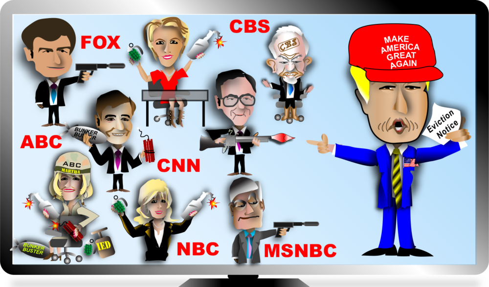 Đấu đá giữa Donal Trump và truyền thông Mỹ. Nguồn internet.