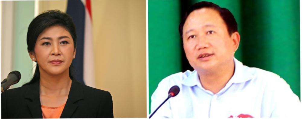Yingluck Shinawatra và Trịnh Xuân Thanh (Nguồn Internet)